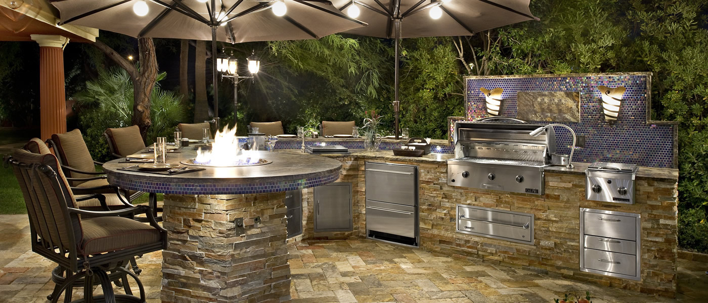 Custom Outdoor Kitchen Lighting Infiniti Building Products